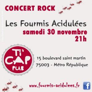 les fourmis en concert samedi 30  novembre